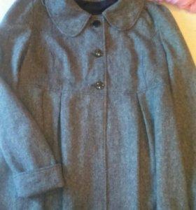 Шерстяное пальто для беременных