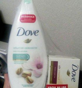Dove гель и мыло