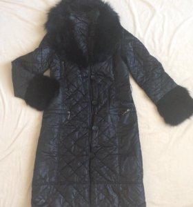 Куртка с натуралтным мехом