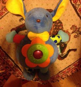 Зайчик -музыкальная игрушка