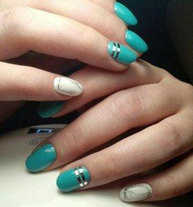 Аппаратный маникюр, покрытие ногтей гель лаком