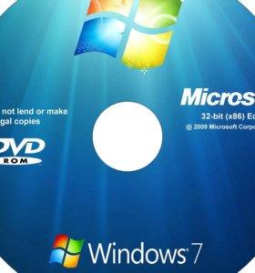 Установка ОС Windows 7, 8, 10 на дому.