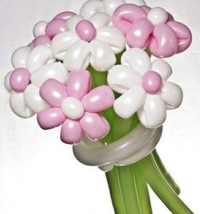 Букеты из шаров. Ромашки из шариков