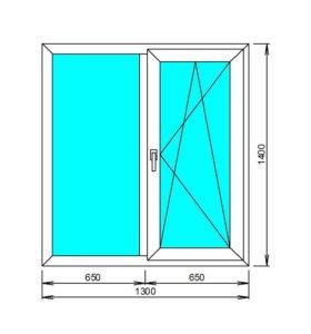 Окно ПВХ пластиковые новое от производителя