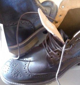 Португальские ботинки из натуральной кожи