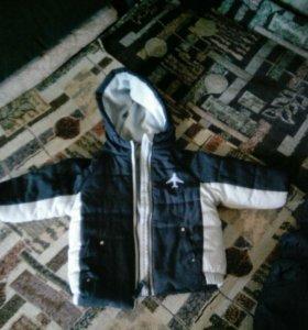 Куртка детская на годовалика и комбинезон