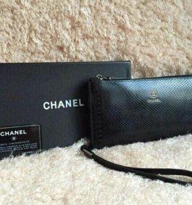 Кошелек клатч Chanel кожа💯копия