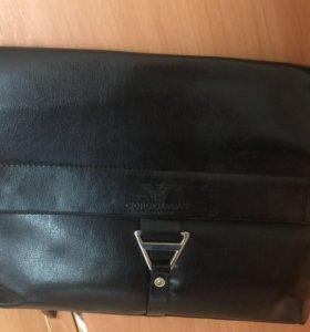 Мужская сумка кож зам