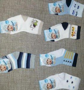 Носки новые для мальчика 6-12 и 9-18 мес