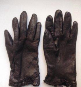 Перчатки, натуральная кожа