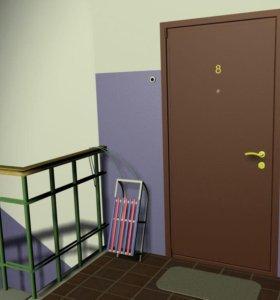 Установка металлических дверей.