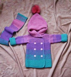 Детское пальто (размер от 1 года до 5)