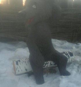 Скульптура медведя
