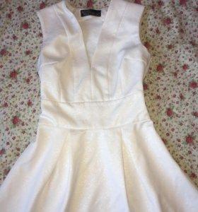 Шикарное белое платье LOVE REPUBLIC