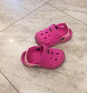 Сланцы-сандали по типу crocs