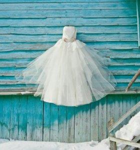 Свадебное платье на рост 160см