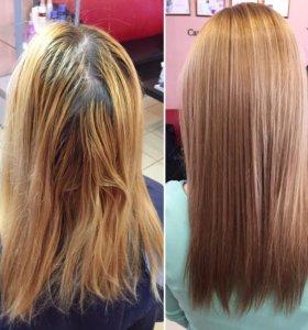 Осветление волос. Мелирование