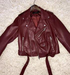 Кожаная куртка косуха Zara (новая !) размер M