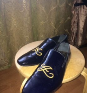 Лаковые мужские туфли zilli
