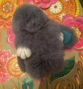 Кролики - брелки из меха 🐰