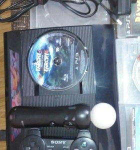 PS 3 Super Slim 500g + PS Move