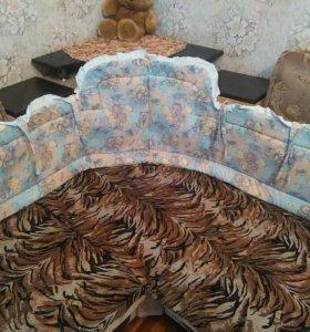 Бортик-бампер для детской кроватки