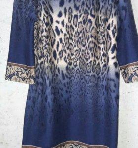 Платье женское синее.Платье дамское.