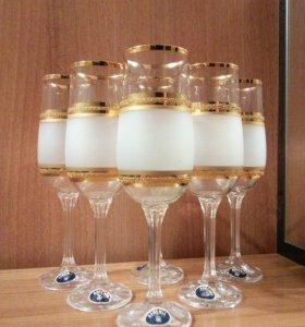 Фужеры для шампанского Богемское стекло