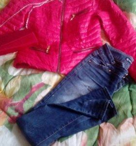 Куртка джинсы клатч