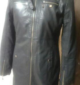 Куртка тренч 46-48 эко-кожа