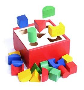Игрушка сортер умный квадрат
