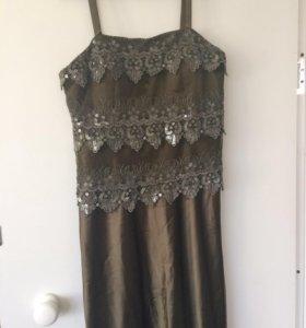 Платье вечернее с накидкой