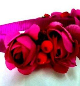 Обручи из цветов