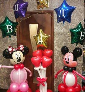 Фигуры из шаров.Воздушные шары