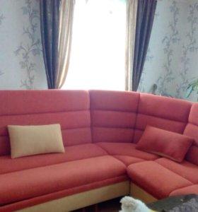 Продается угловой диван, со спальным местом