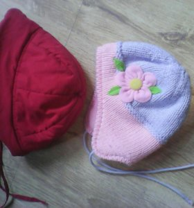 2 шапки для девочек