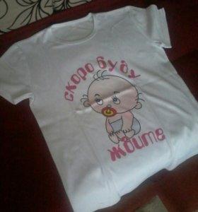 Новая футболка для беременных