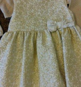 Платье и кардиган для девочки