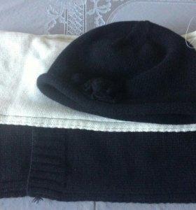 Шапка+2 шарфа