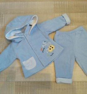 Велюровый костюмчик для малыша