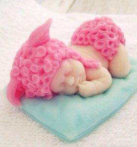 Малыш на подушке мыло ручной работы
