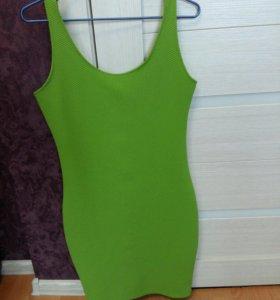 Платье салатовое зеленое