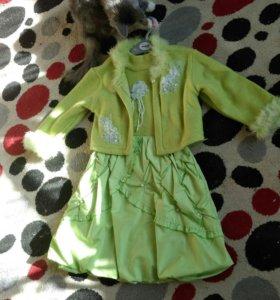 Продам комплект платье+кофта. На рост 116-122