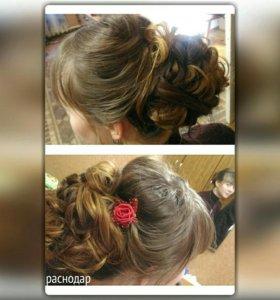 Плетение кос,прически