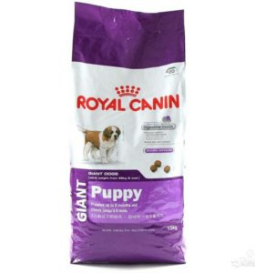 Royal Canin Giant starter, puppy, junior.