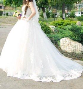 Роскошное пышное свадебное платье!