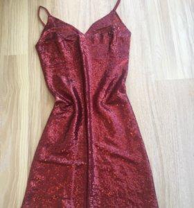 Коктельное платье. Пайетки