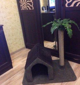 Продам новый домик+ когтеточка