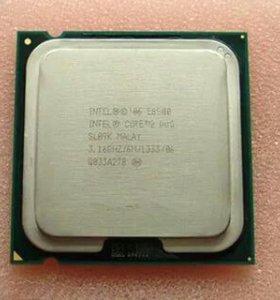 Intel Core 2 Duo E8500 (S775) + кулер из профиля
