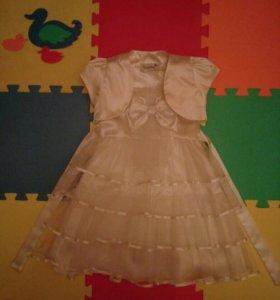 Нарядное платье с болеро 3-5 лет